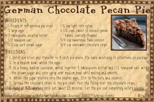 Decadent Dessert: German Chocolate Pecan Pie