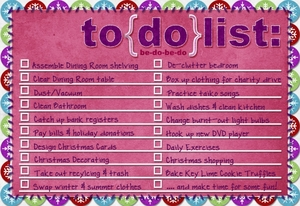 My Weekend To-Do List