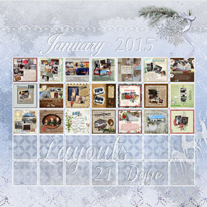 Calendar - LO's done for Jan 2015