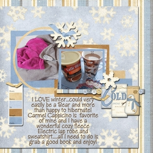 Monthly Layout Contest- Cozy Winter