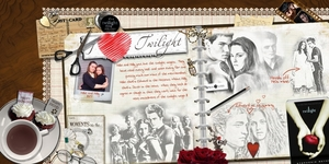 I love twilight double page layout