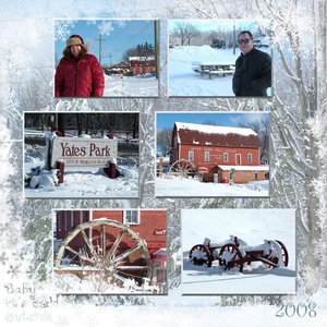Yates Cider Mill in the Snow