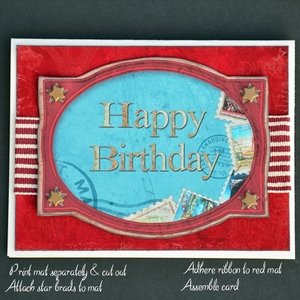 Printable Happy Birthday Card 2 - Masculine