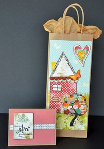 Printable Art House Gift Bag