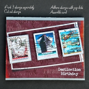 Printable Destination Birthday - Masculine