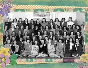 1942, Lorraine & her sorority pledge class