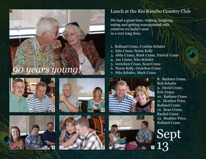 90th Birthday Luncheon, p1. of spread