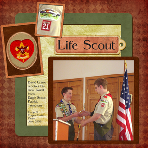 David reaches Life Scout rank