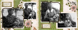 Great Grandmothers with my DH's older brother (spread)