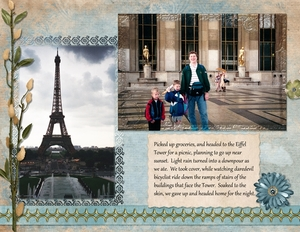 Rained out at the Eiffel Tower, p.1