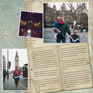 First Day in London, right page