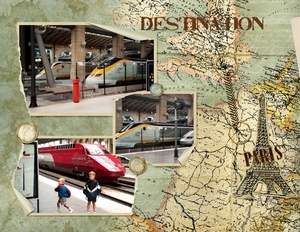 Arriving Gare du Nord, Paris, pg 1 of 2