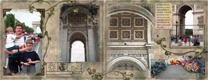 Arc de Triomphe, double-spread
