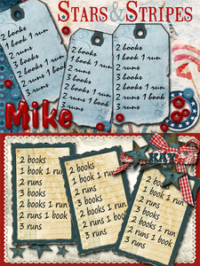 4th of July Card Game Score Cards 1