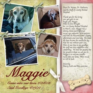 A Tribute to Maggie - Done! (I hope)