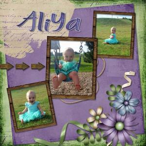 Aliya Playing in the Park
