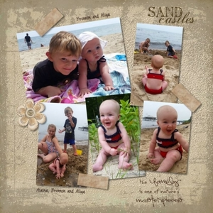 Aliya, Alaina and Brennon at the beach
