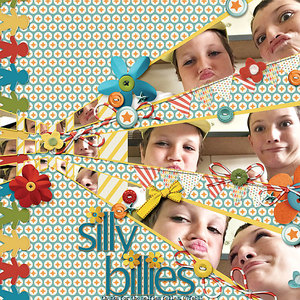 Silly Faces layout from newsletter 31mar15