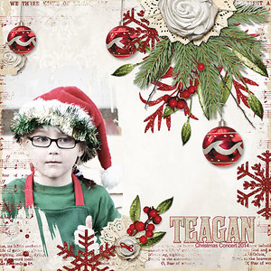 layout for Angie's new Capturing Xmas collection