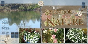 Double page-The Splendor of Nature