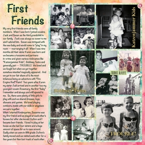 "Sept 2015 Forum Game - All About Me Task 8: ""Friends"""