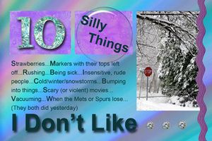 10 Silly Things I Don't Like
