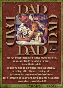 "Task 14: Re-JUNE-venate: ""Dad & Me"""