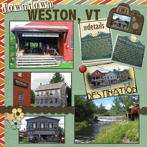 """Staycation 2013: Historic Downtown Challenge - """"Weston VT"""""""