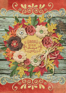 Harvest Spice Wreath Card