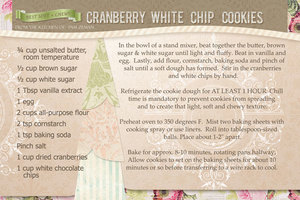 Cranberry White Chip Cookies