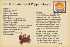 Becster - Crab & Roasted Red Pepper Bisque (front)