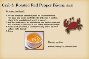 Becster - Crab & Roasted Red Pepper Bisque (back)