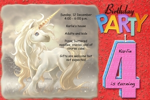 Karlie's Birthday Party Invitation
