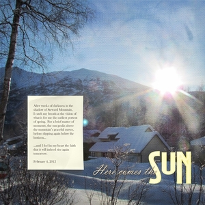 February:  Here comes the sun