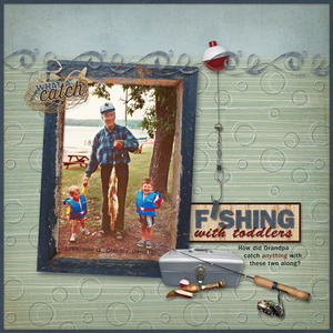 Layout for Dad's Tackle Box by Ginny Whitcomb