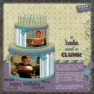 A Cake and a Clunk