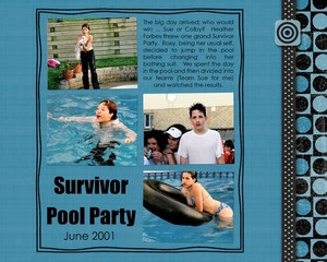 survivor pool party!