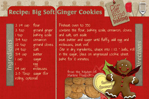 Ginger Cookies Country Christmas Recipe LO