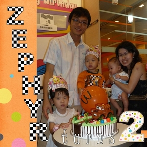 Zephyr's Birthday Party (left side)
