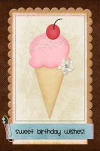 Too Sweet Ice Cream Cone Layout