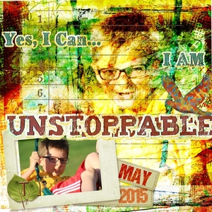 Monday Random  Scraplift- Unstoppable