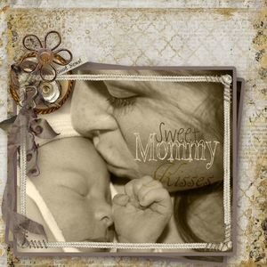Weekend Challenge page 2---Mommy's Kisses