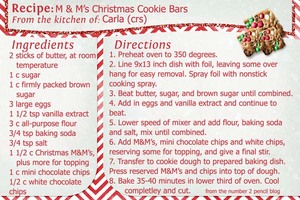 Cookie Exchange, Recipe 1