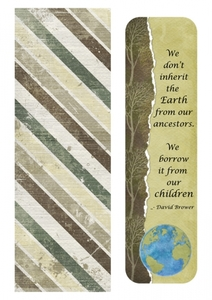 Bookmark-We don't inherit the earth. . .
