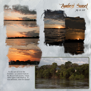 Life along the River; Zambezi Sunset