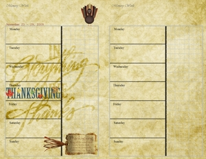 Thanksgiving Week planner page