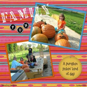 A pumpkin pickin' kind of day!