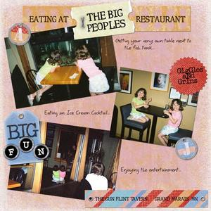 Eating at the BIG PEOPLES restaurant