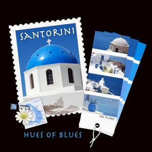 SANTORINI HUES OF BLUES