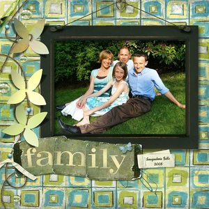 Scrap Simple Club March - Family
